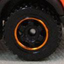 6 Spoke Ringed Gear - Black-Orange
