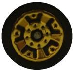 Matchbox Wheels : 5 Dot Crown - Gold