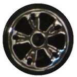 Matchbox Wheels : 5 Spoke Slotted - Chrome