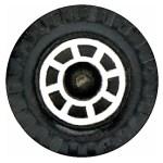 Matchbox Wheels : 8 Spoke Industrial - Chrome
