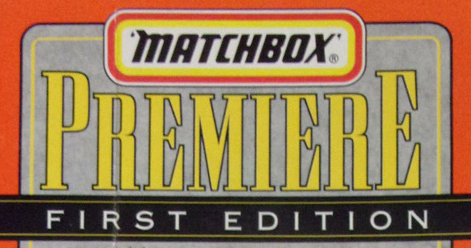 Matchbox Premiere - First Editions