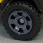 Matchbox Wheels : 6 Spoke Utility - Grey