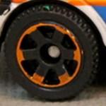 Matchbox 6 Spoke - Black - Orange Rim