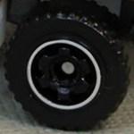 Matchbox Wheels : 6 Spoke Ringed Gear - Black-Chrome