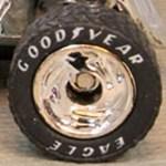 Matchbox Chrome Disc Goodyear Rubber tyres