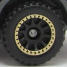 Matchbox Wheels : 10 Spoke RInged - Black-Gold