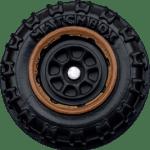 Matchbox Wheels : 8 Spoke Rimmed - Black/Brown