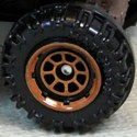 Matchbox Wheels : 8 Spoke Rimmed - Brown