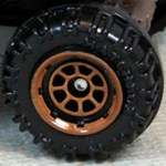 Matchbox Wheels : 8 Spoke Rimmed - Brown