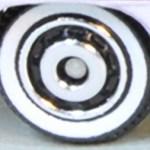 Matchbox Wheels : Ringed Disc Whitewall - Chrome