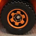 Matchbox Wheels : 6 Spoke Ringed Gear - Orange