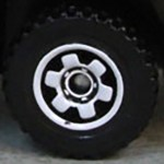 Matchbox Wheels : 6 Spoke Ringed Gear - White