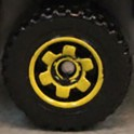 Matchbox Wheels : 6 Spoke Ringed Gear - Yellow