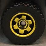 Matchbox Wheels : 6 Spoke Ringed Gear - Yellow