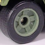 Matchbox Wheels : 5 Spoke Solid Rubber -Olive Green