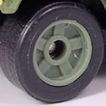 Matchbox Wheels : 5 Spoke Solid Rubber -Olive Green