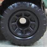 Matchbox Wheels : 8 Spoke - Black