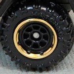 Matchbox Wheels : 8 Spoke Rimmed Black/Gold