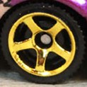 Matchbox Wheels : 5 Spoke Modern - Gold