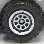 Matchbox Wheels : 8 Spoke Rimmed - White
