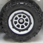 Matchbox Wheels : 8 Spoke Rimmed - White