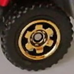 Matchbox Wheels : 6 Spoke Ringed Gear - Gold
