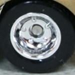 Matchbox Wheels : Solid Rim - Rubber - Chrome