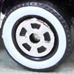 Matchbox Wheels : 5 Spoke New - White Wall