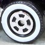 Matchbox Wheels : 5 Spoke New - White Wall