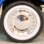 Matchbox Wheels : Solid Traditional - Chrome White Walls