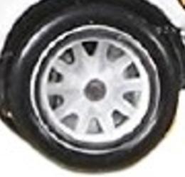 Matchbox Wheels : 10 Spoke Sports Rubber - Clear