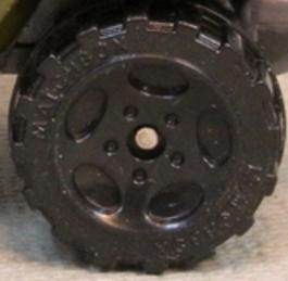 Matchbox Wheels : 5 Spoke Oval - Black