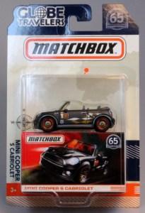 Matchbox MB822 : Mini Cooper S Cabrio Globe Travelers
