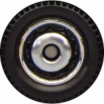 Matchbox Wheels : Ringed Disc - Chrome