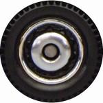 Matchbox Wheels : Ringed Disc - Chrome