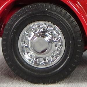 Matchbox Models of Yesteryear Wheels: Solid - Blanked Rivet - Chrome