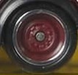 Matchbox Wheels : Solid Ringed Rubber (Dark Red)
