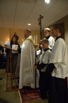 Opening the consecration service