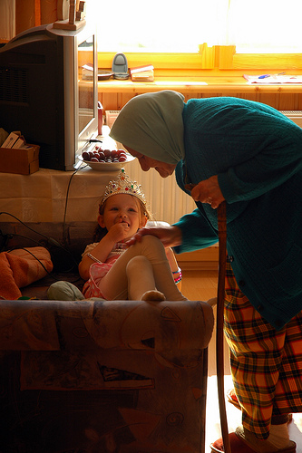 Great-Grandmother and Great-Granddaughter