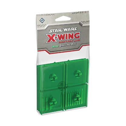 FFG SWX45 X-Wing Pegs and Bases Green