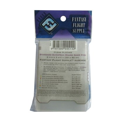 FFG FFS04 Standard European Board Game Sleeves Purple