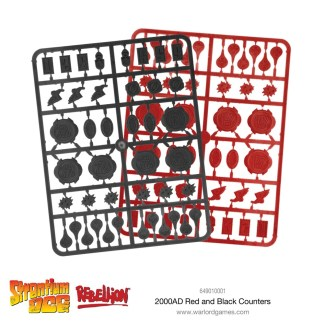 Warlord Strontium Dog 649010001 Red and Black Counters
