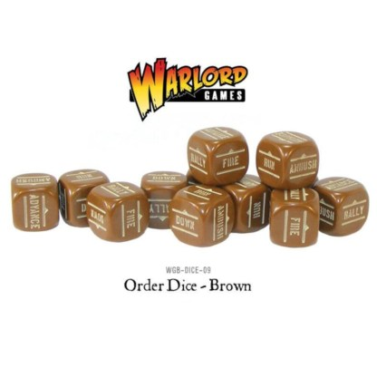 Warlord Games WGB-DICE-09 Bolt Action Brown Orders Dice