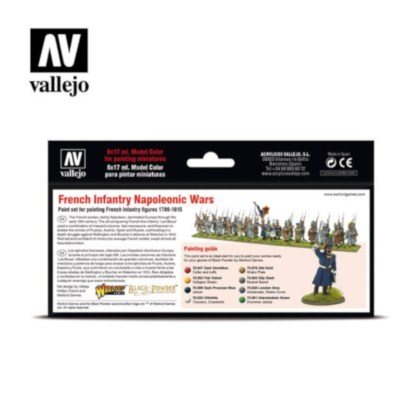 Vallejo 70164 French Infantry Napoleonic Wars Paint Set