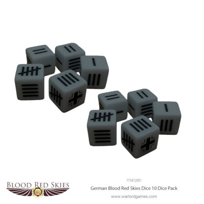 Warlord 773412001 Blood Red Skies German Dice