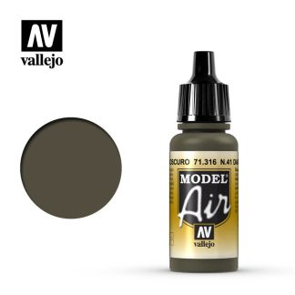 Vallejo 71316 Model Air 316 - Num. 41 Dark Olive Drab 17ml