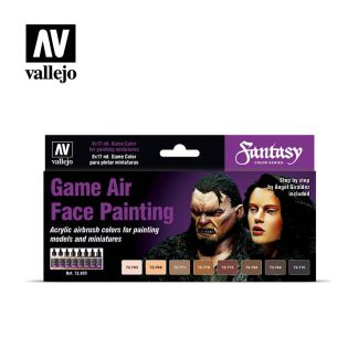 Vallejo 72865 Game Air Face Painting Set