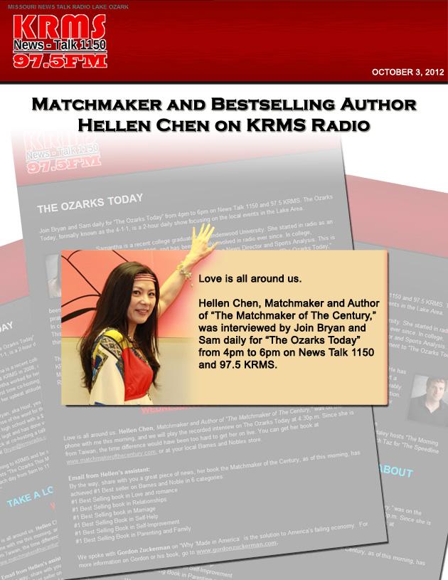 Hellen Chen on KRMS_Radio