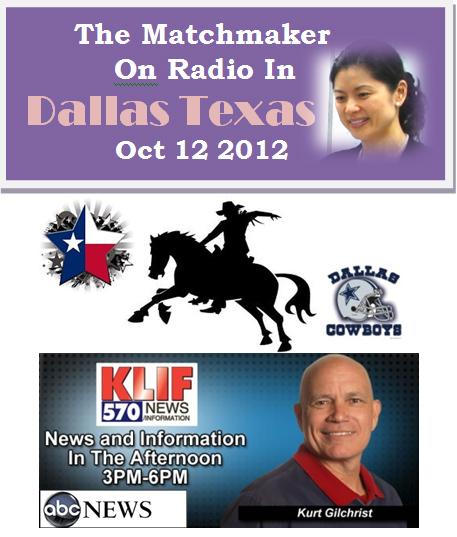 Matchmaker Hellen Chen on KLIF Radio