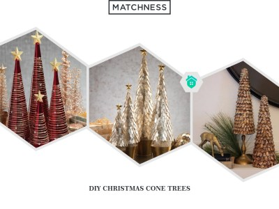 1. diy christmas cone trees